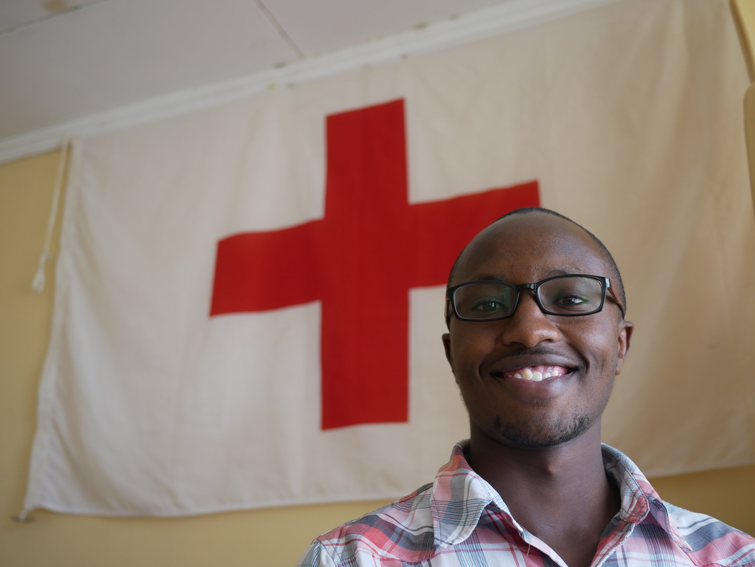 Sam - Sam is a Red Cross volunteer from Nanyuki. He recently finished his BSc. in Entrepreneurship and has a heart and passion of service to the community.- I love teamwork, developing leadership skills and engaging with the community at large.