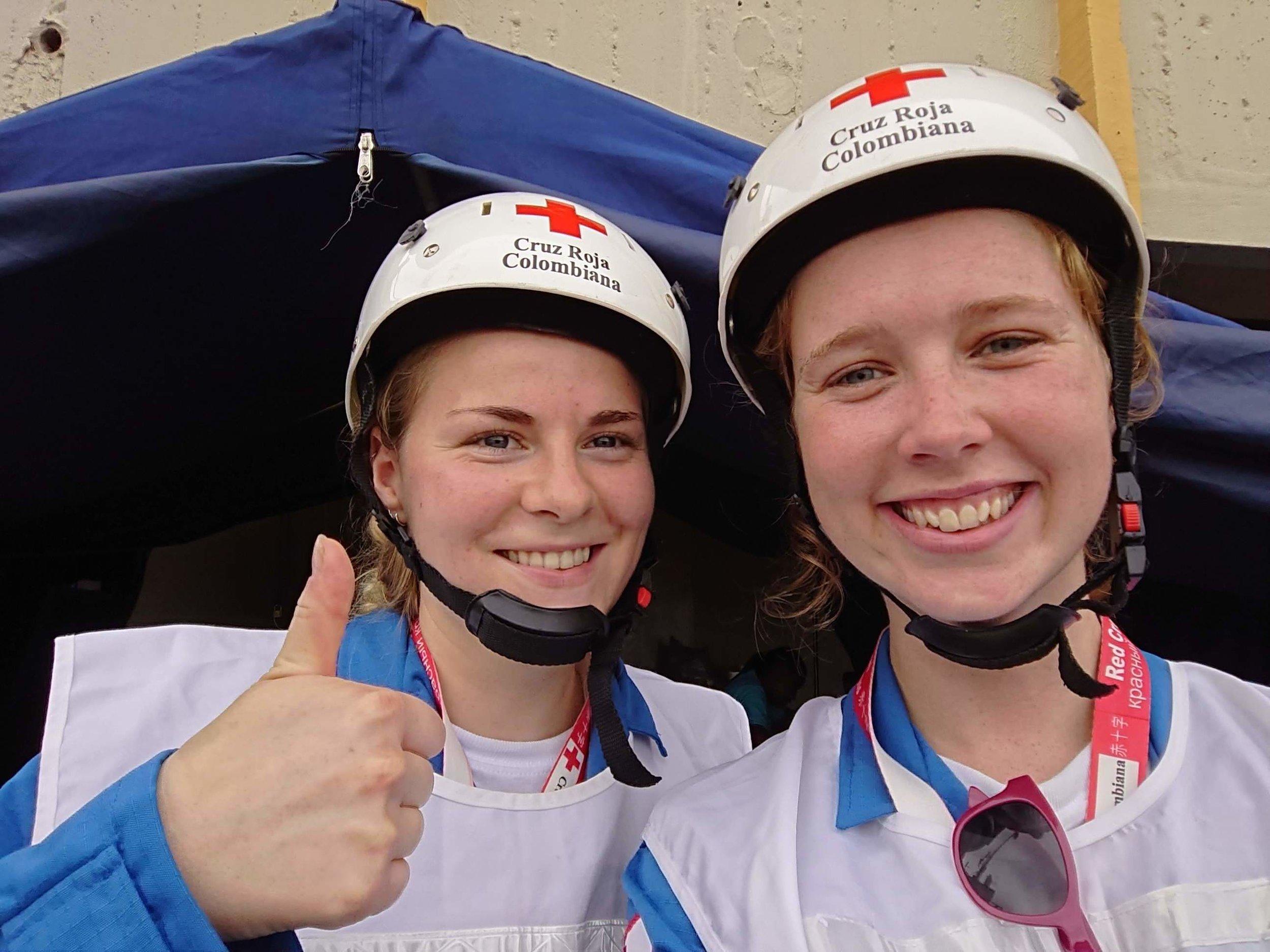 ¡Feliz en nuestras primera actividad con la Cruz Roja Colombiana!