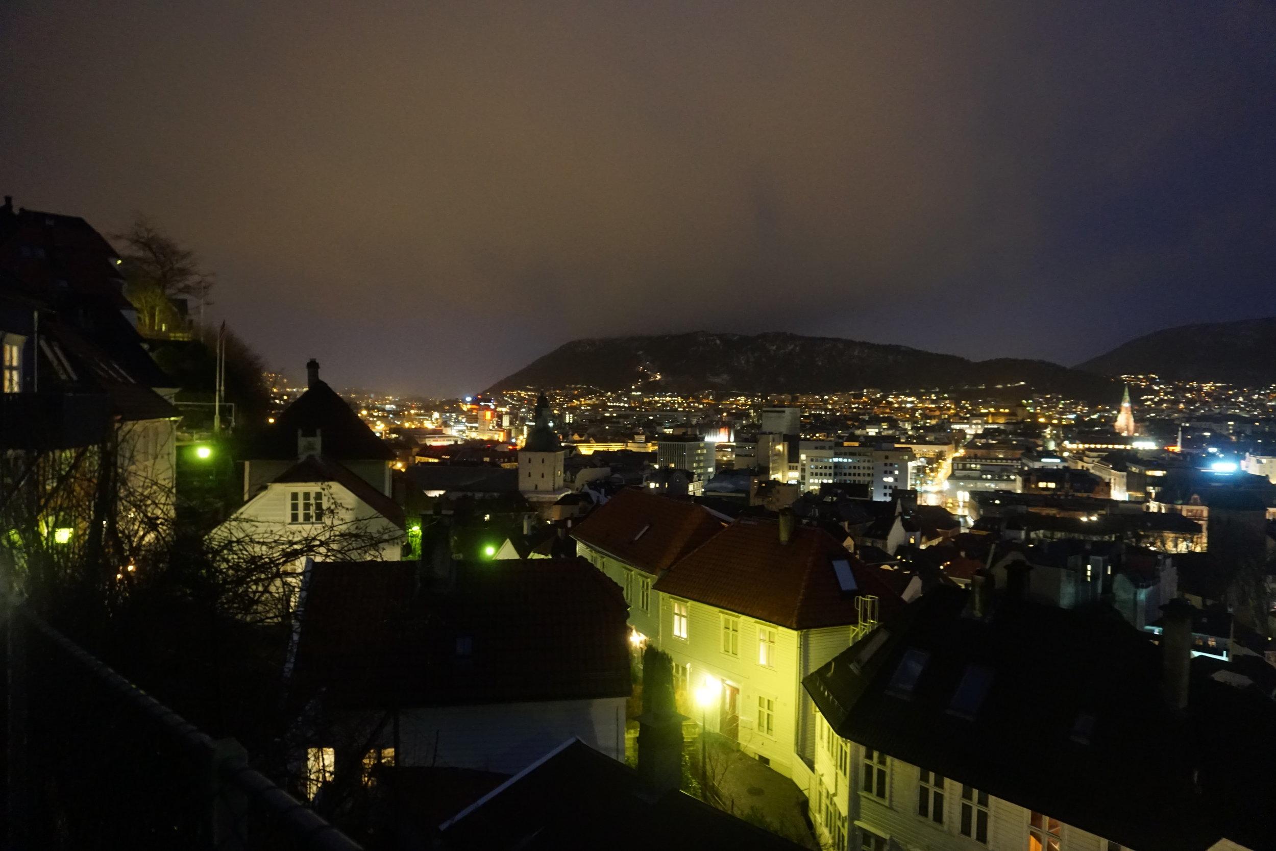 When we arrived, Bergen was still asleep but her beauty was awake.