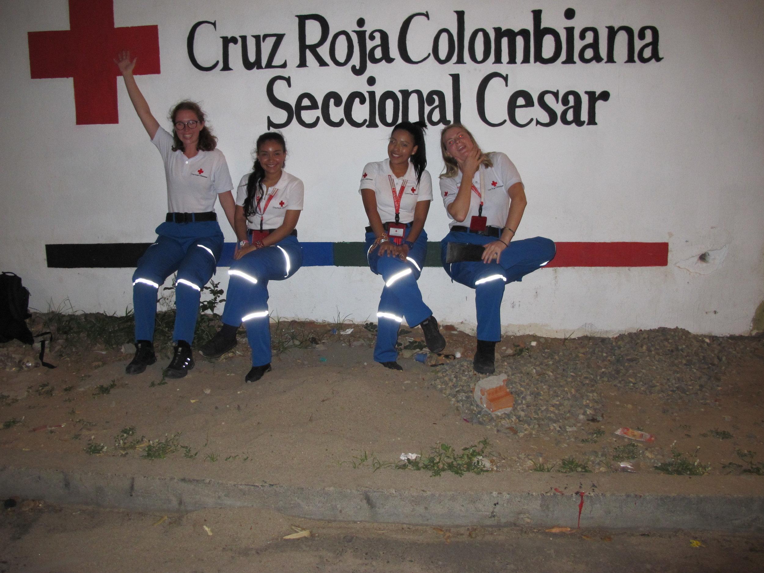 Las facilitadoras despues el taller en Valledupar: Kaia, Lynda, Maria Jose y Malene.