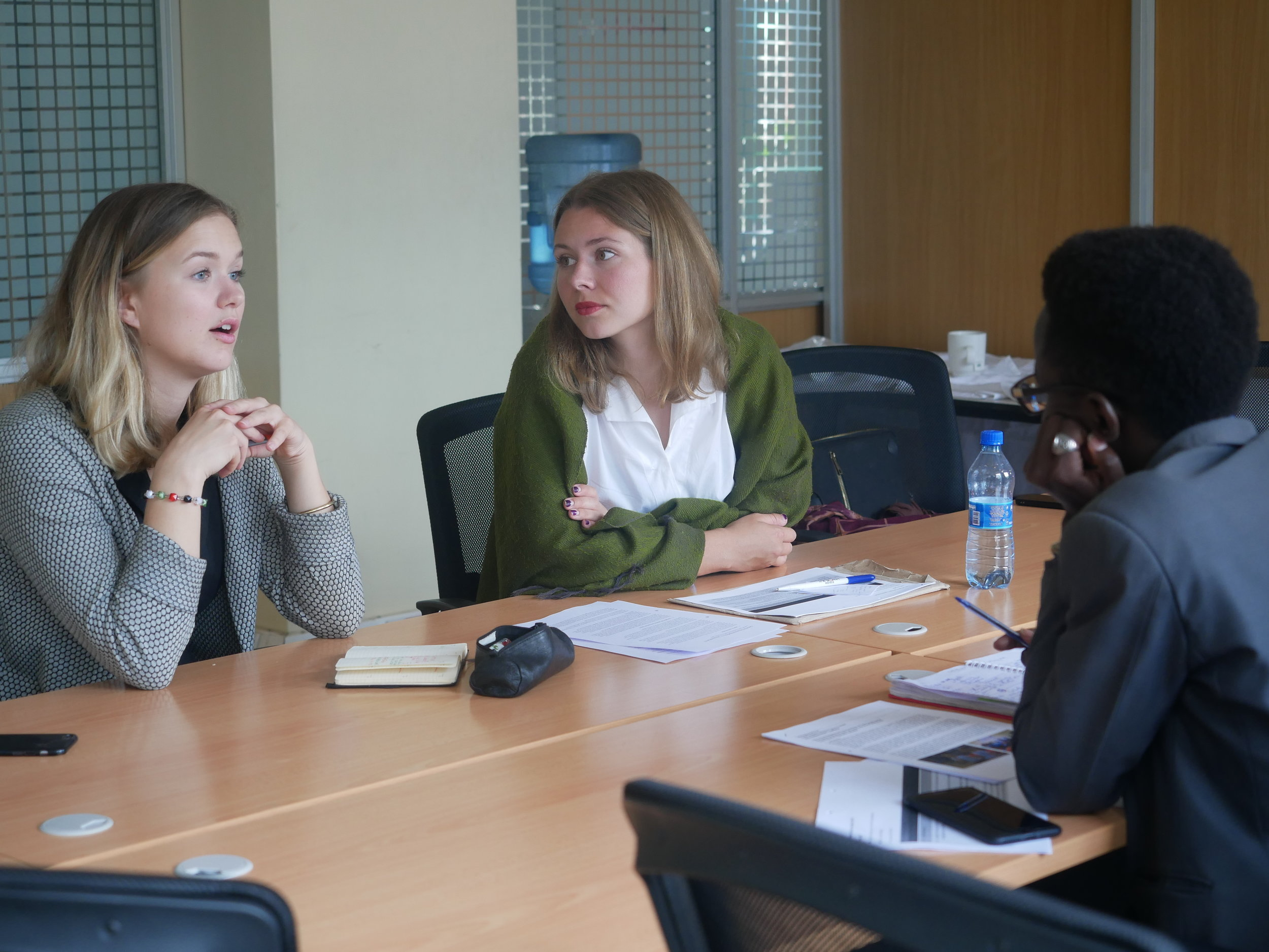 Ingrid and Elfi presenting the End of Mission reports with Youth Team at HQ in May 2019. Photo: Cecilia Mwangi.