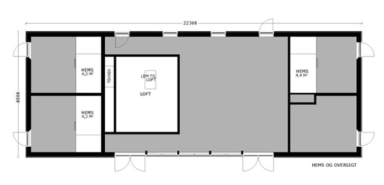 oneroom one 190 m2 loft