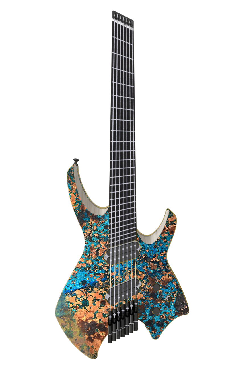 Goliath GTR MULTISCALE - Blue Copper Graphic (6, 7 & 8 String)