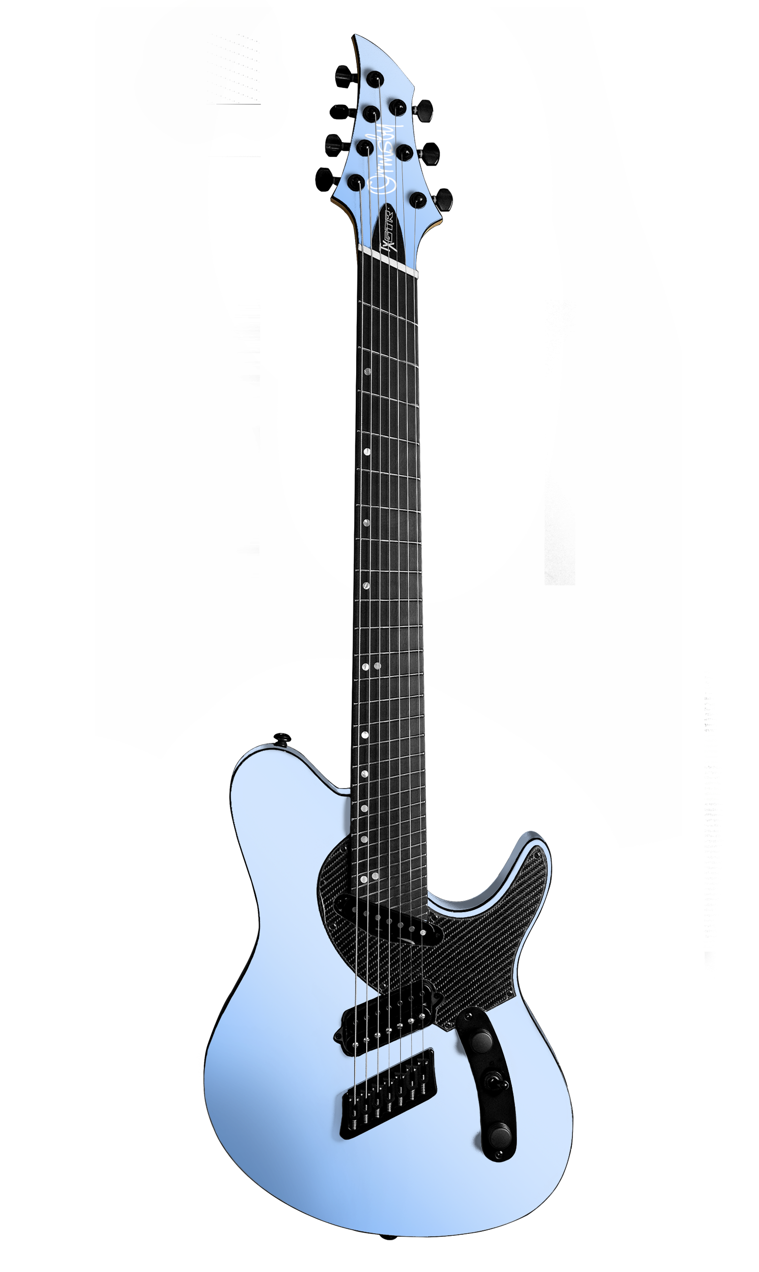 TX GTR Carbon MULTISCALE - Azzurro California (6, 7 & 8 String)