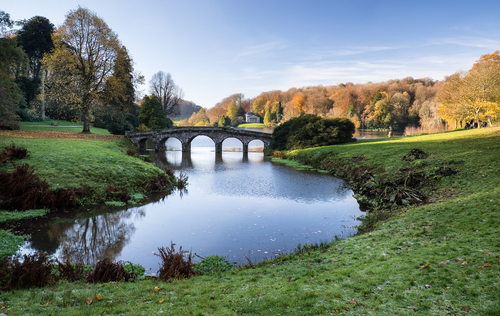 The grand Palladian mansion and landscape gardens of  Prior Park  are great landmarks of Bath.