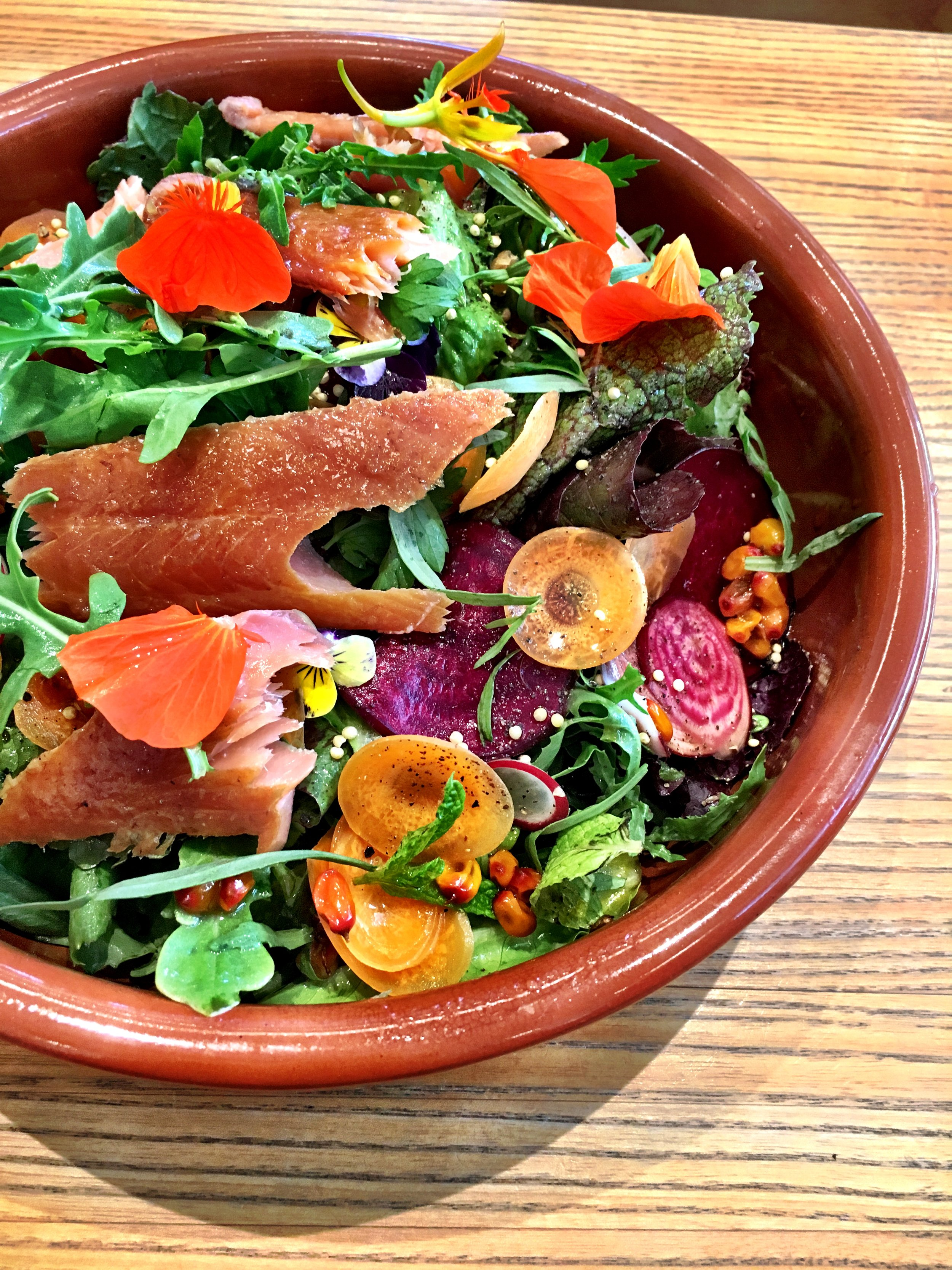 SHED Salad with trout