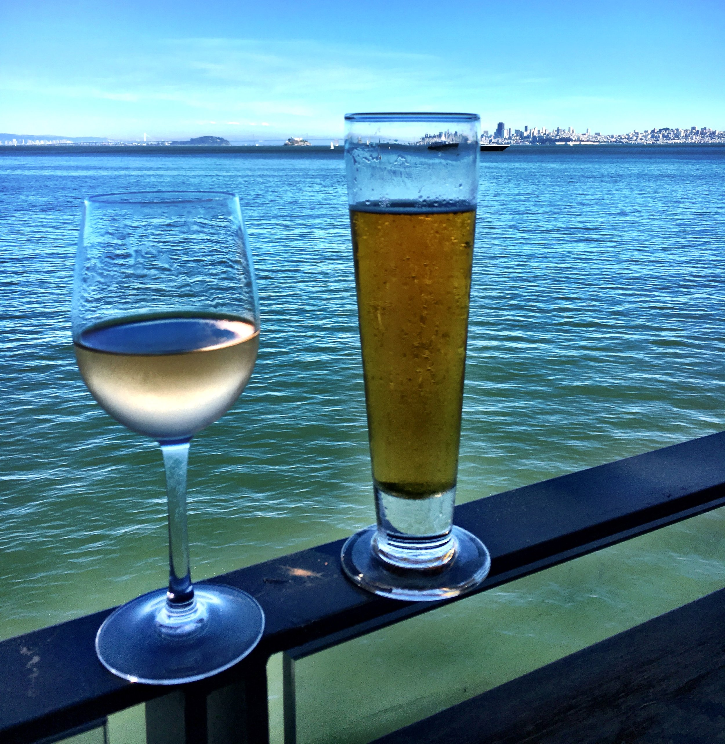 Views & booze in Sausalito
