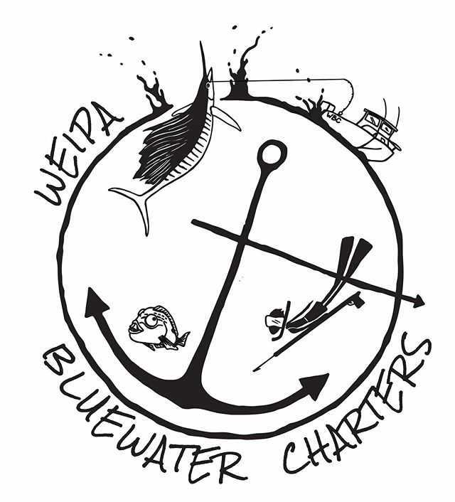 WEIPA • BLUEWATER • CHARTERS I've been doing some bits and pieces for the new @weipabluewatercharters including their new logo and some boat sticker designs (swipe to see one getting put up!). 🐟  The design work has been a bit different to my standard detailed creations but have loved the challenge of creating depth and a sense of fun in simple drawings. 🐟 Stoked to be involved in with this charter business who will take you spearing, trolling, blue water fishing and really whatever type of fishing you're keen on! Located out of Weipa on the remote western coast of Cape York the landscape is just as incredible as the ocean in this part of the world. Can not wait to pay them a visit 🤗💦 🐟  Check out their page @weipabluewatercharters and have a squiz at the fish they've been catching 🐟🐟🐟 . . . #fishingaustralia #fishingqueensland #fishingcharter #queenslandfishingcharter #fishweipa #fishcapeyork #gulfofcarpentaria #fishthegulf #spearfishingqld #spearfishingdaily #gamefishingaustralia #bluewaterfishing #whereelsebutqueensland #fishingholiday