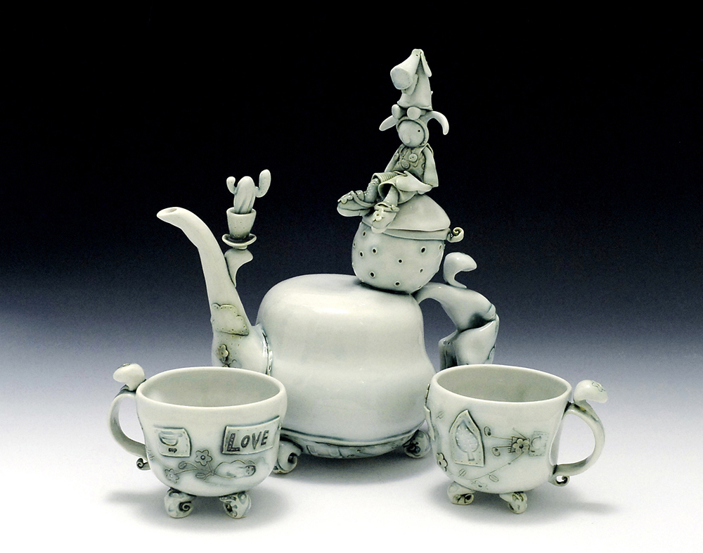 Poe on Heidi's Head Porcelain Teapot set.jpg