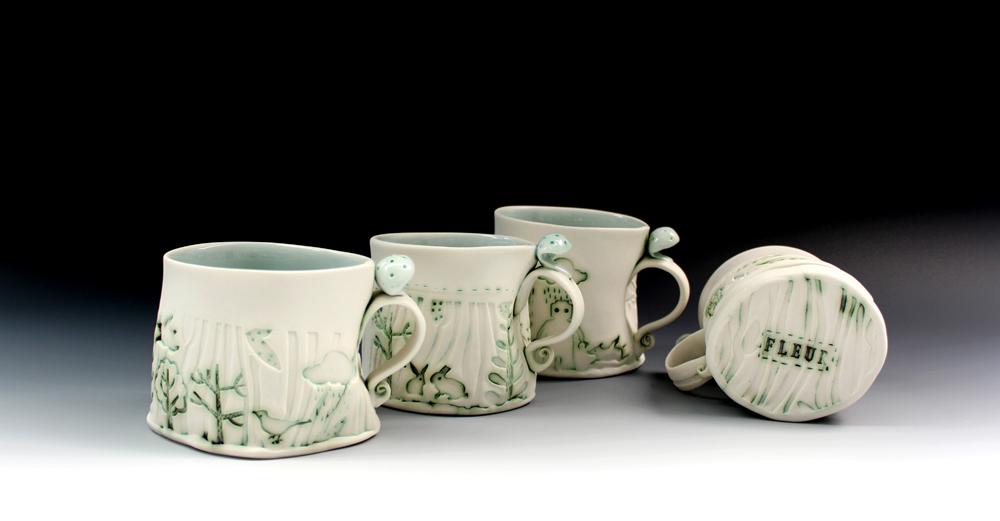 Porcelain cups 2016 set of 4  Fleur Schell.jpg underneath.jpg low res.jpg