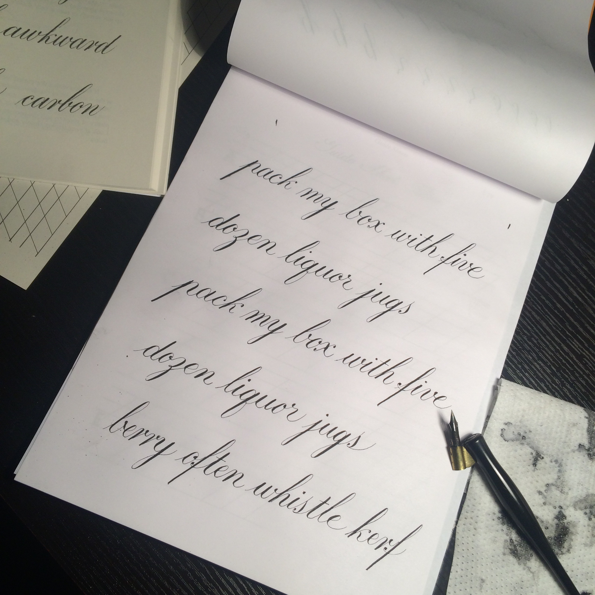 Hunt 22 nib and nonsense pangrams