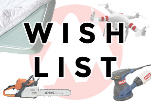 donate to helpful equipment items on our wish list