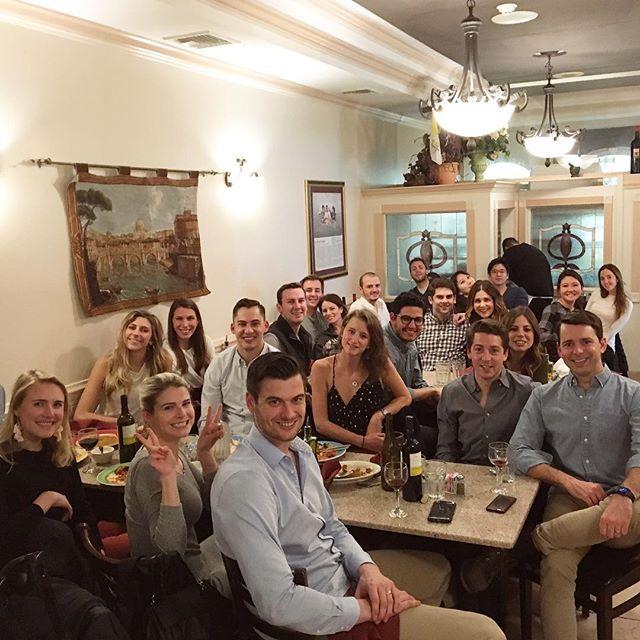 Great crew at Italian Dinner Date Night 🍝🍷
