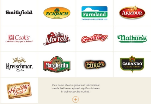 A few of the Smithfield brands.
