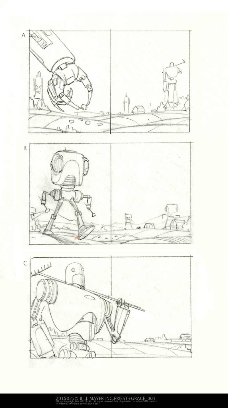Back to the original thumbnails for a quick idea for the spread....