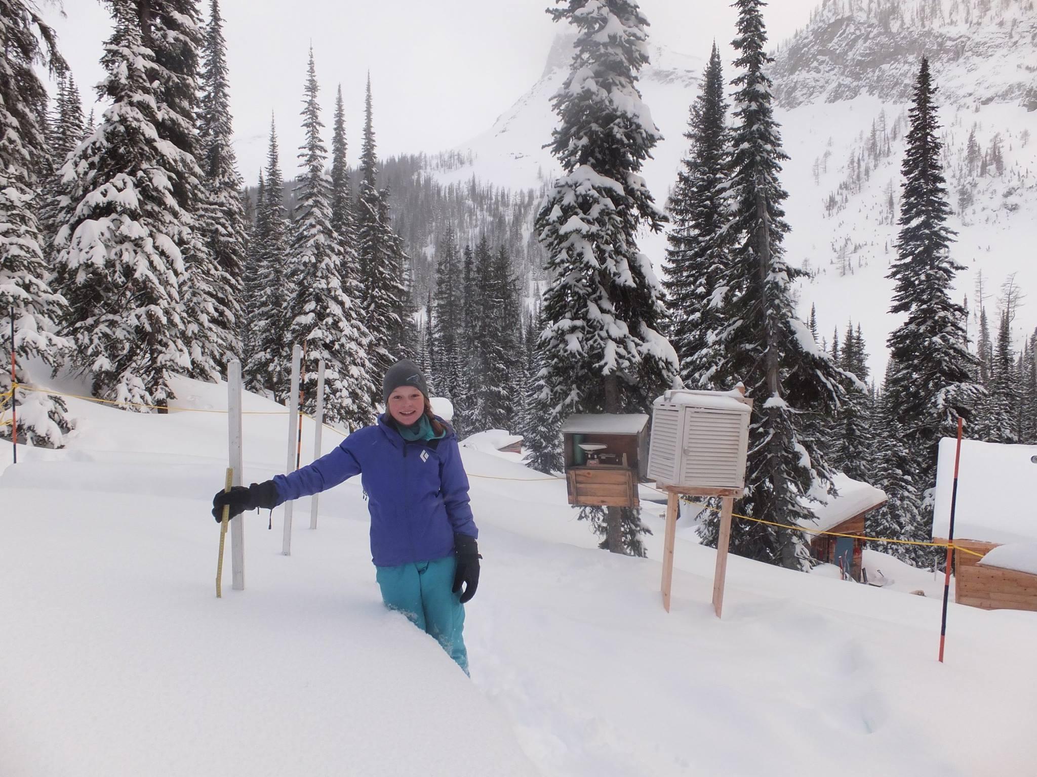 Grace Yancey at Boulder Hut