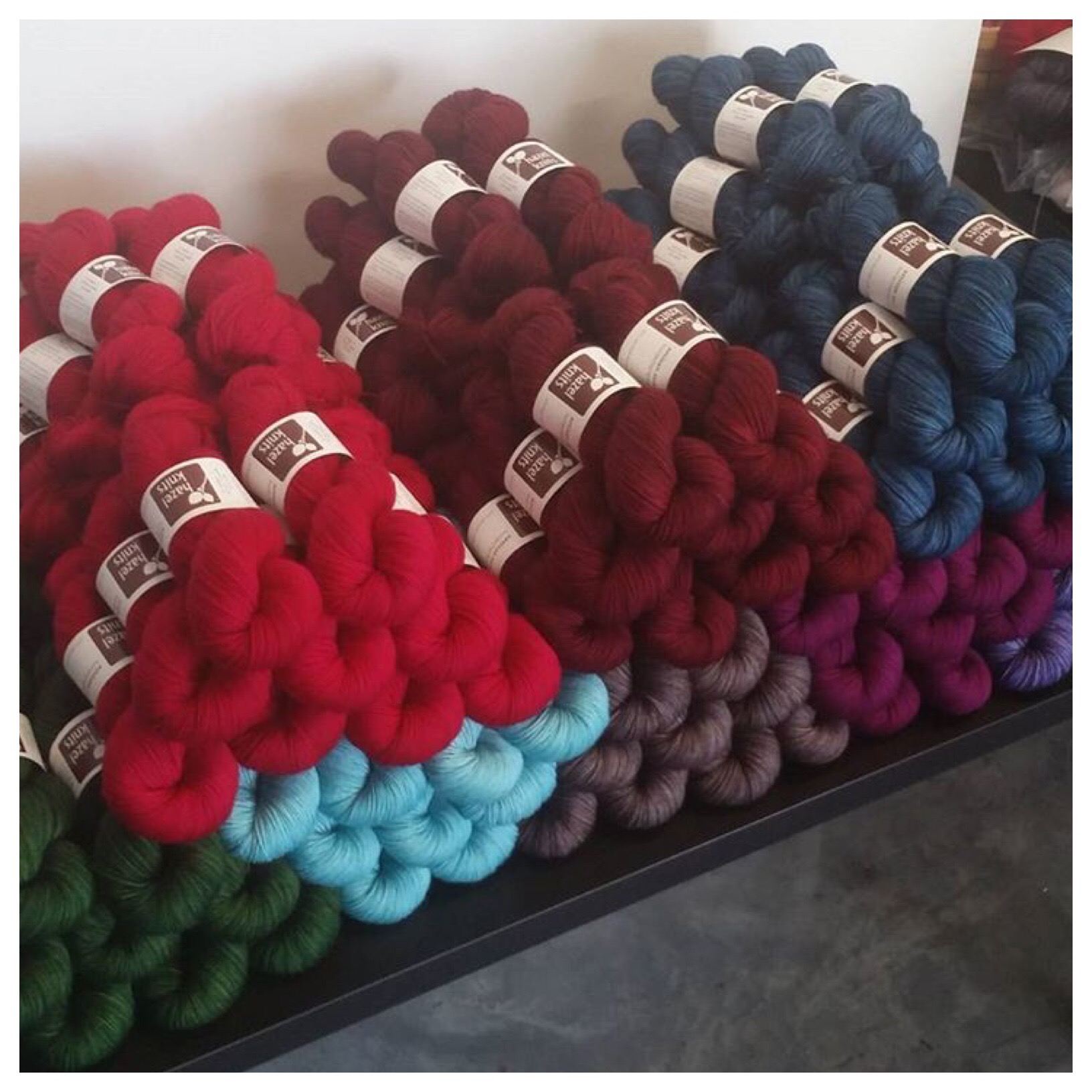 Ready to Ship  - Hazel Knits is packing up a special order just for the Weaving Dept.  Make sure you make it in to see these colors in person!