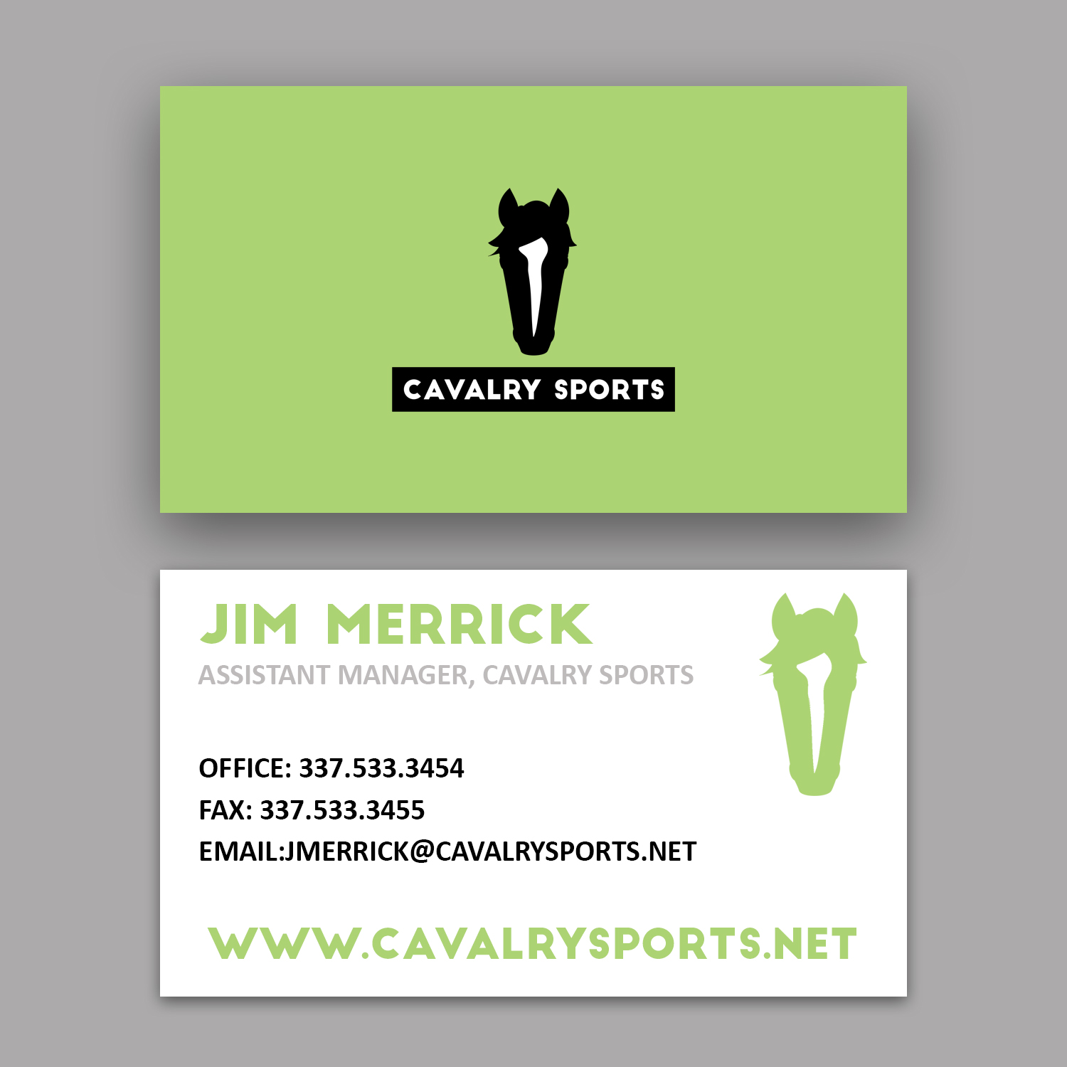 Cavalry Sports Business Card