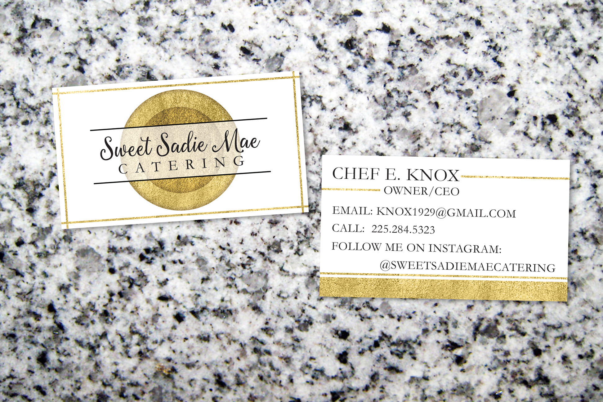 Business Card for Sweet Sadie Mae Catering