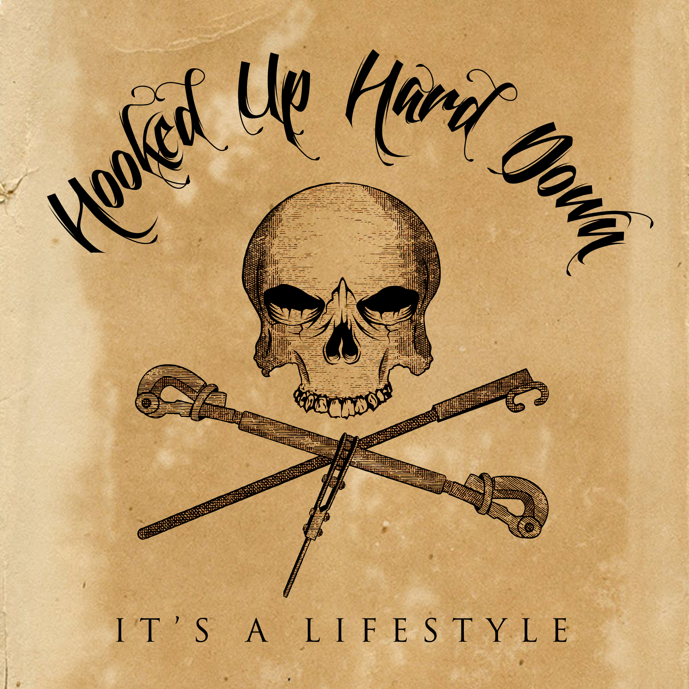 Logo Design Hooked Up Hard Down (Towboating Community)