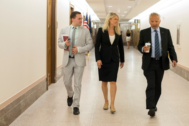 Dr. Tristan Colonius, Dr. Kaylee Myhre, and Dr. Don Hoenig on Capital Hill