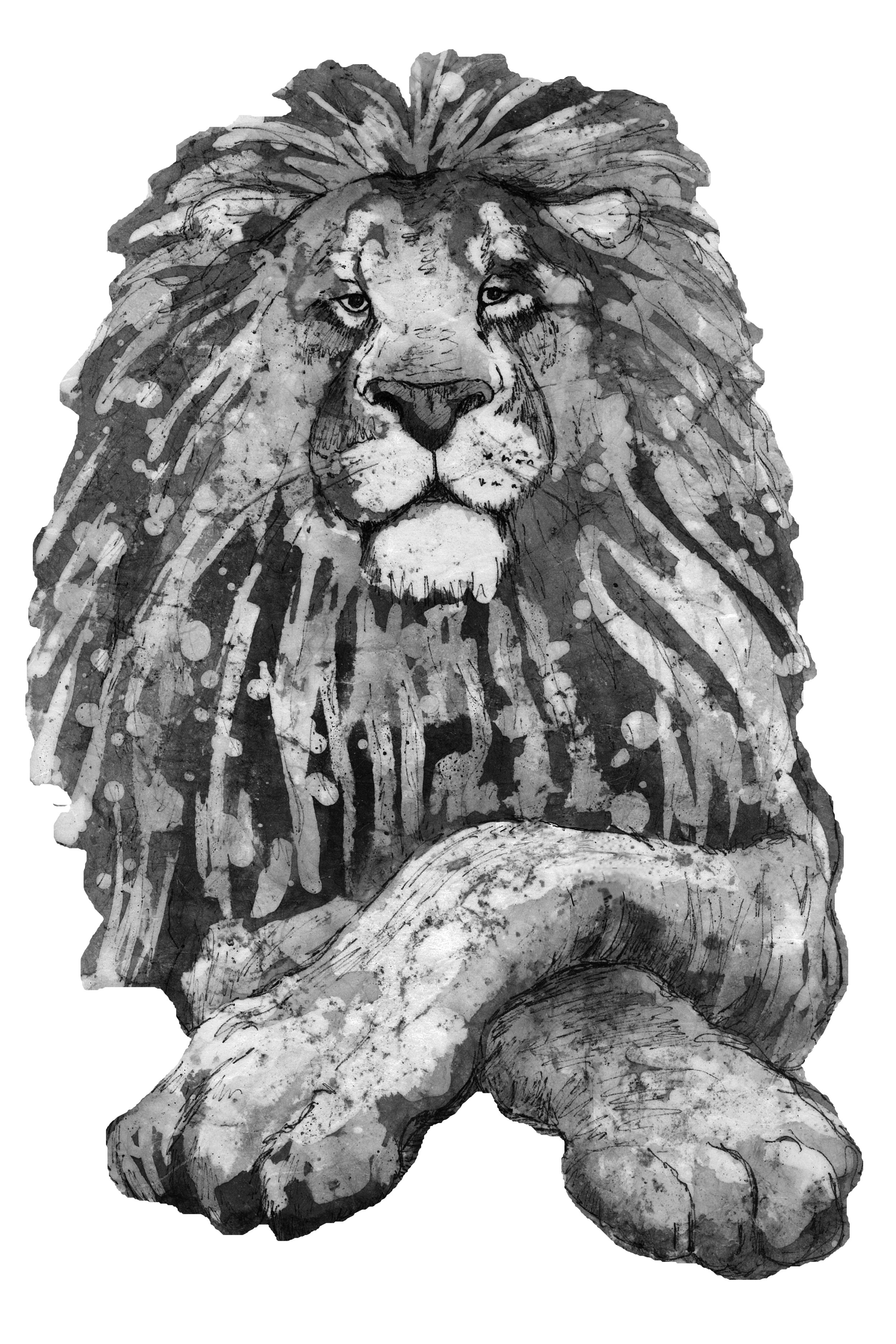 The Lion no watch Original edge Grayscale cropped to lion.jpg