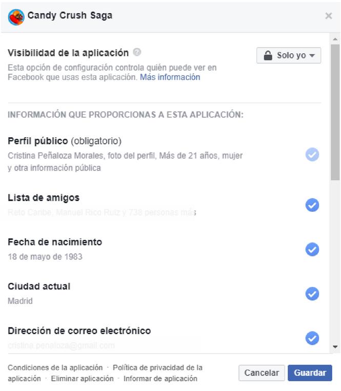 Configuración Aplicaciones Facebook