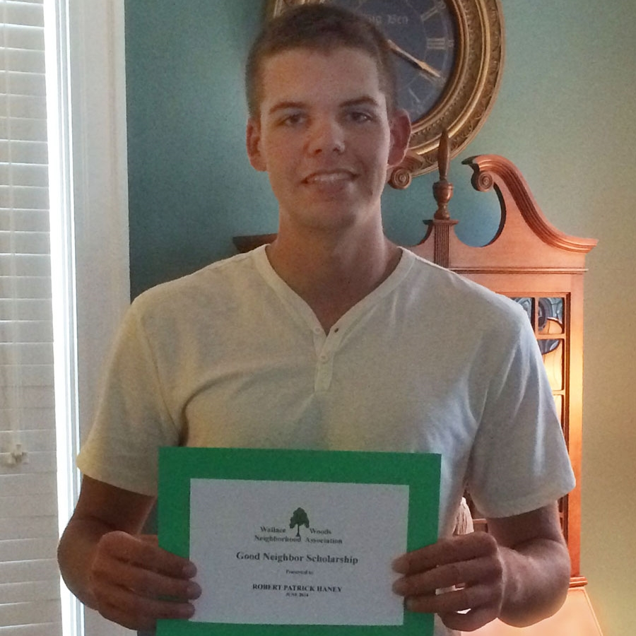 Patrick Haney_Holmes Scholarship.JPG