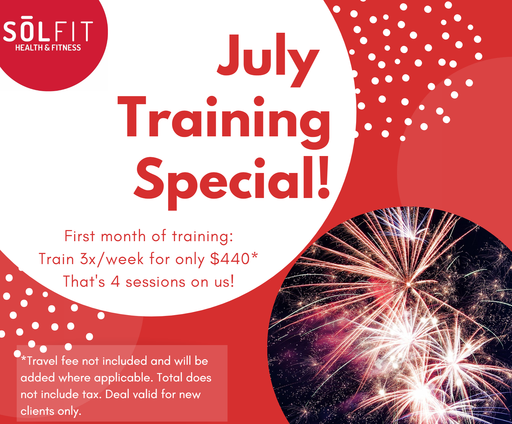 july personal training special