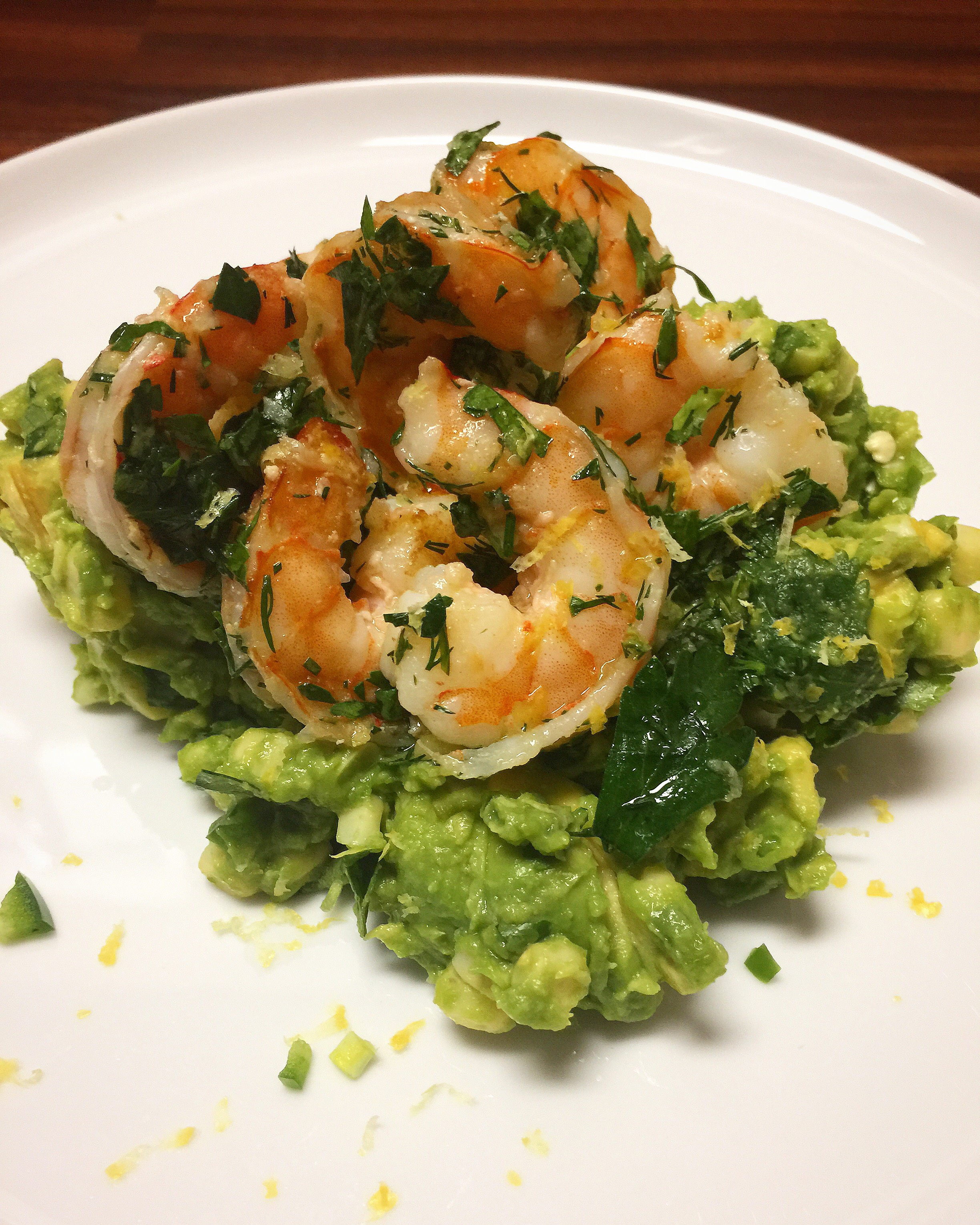 Herb shrimp with avocado salsa.JPG