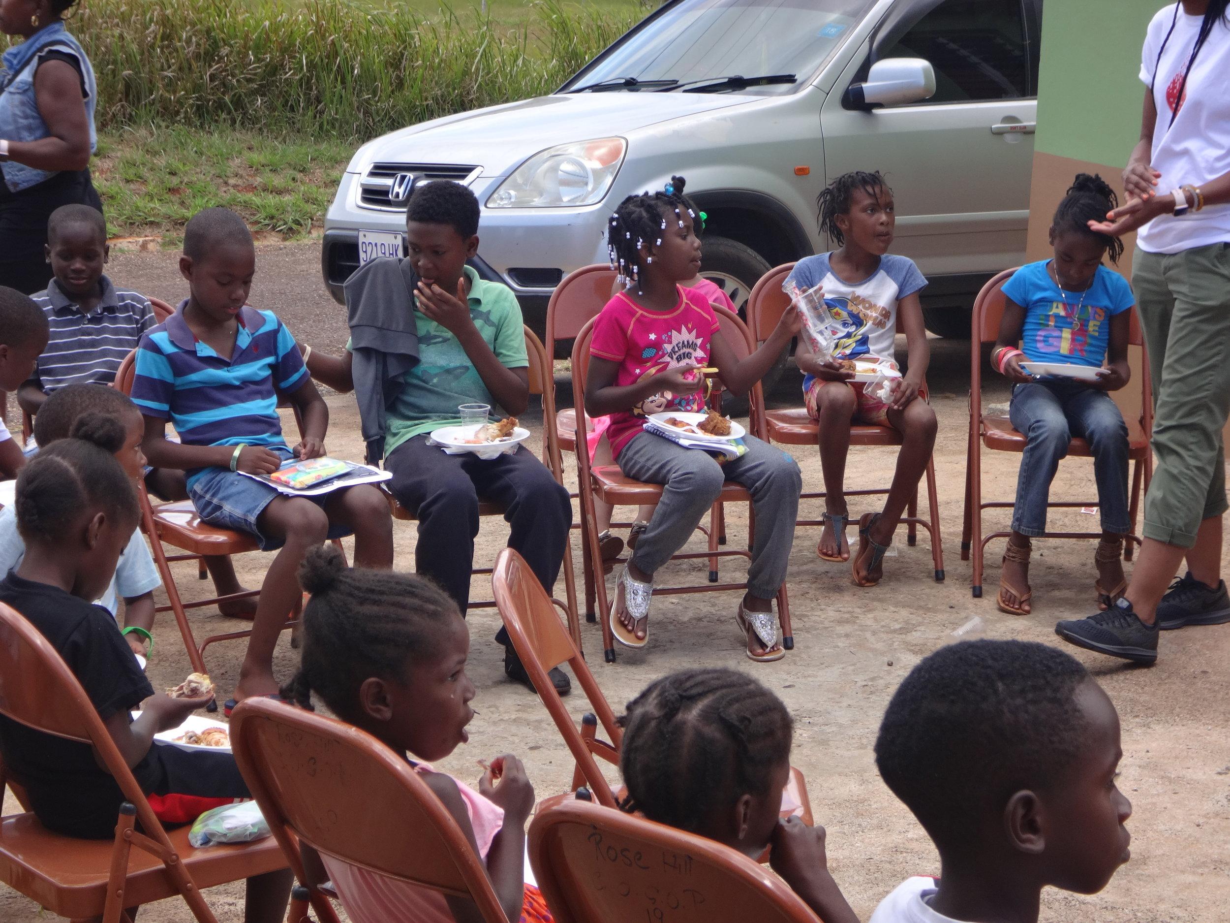 Feeding children - Rose Hill, Jamaica