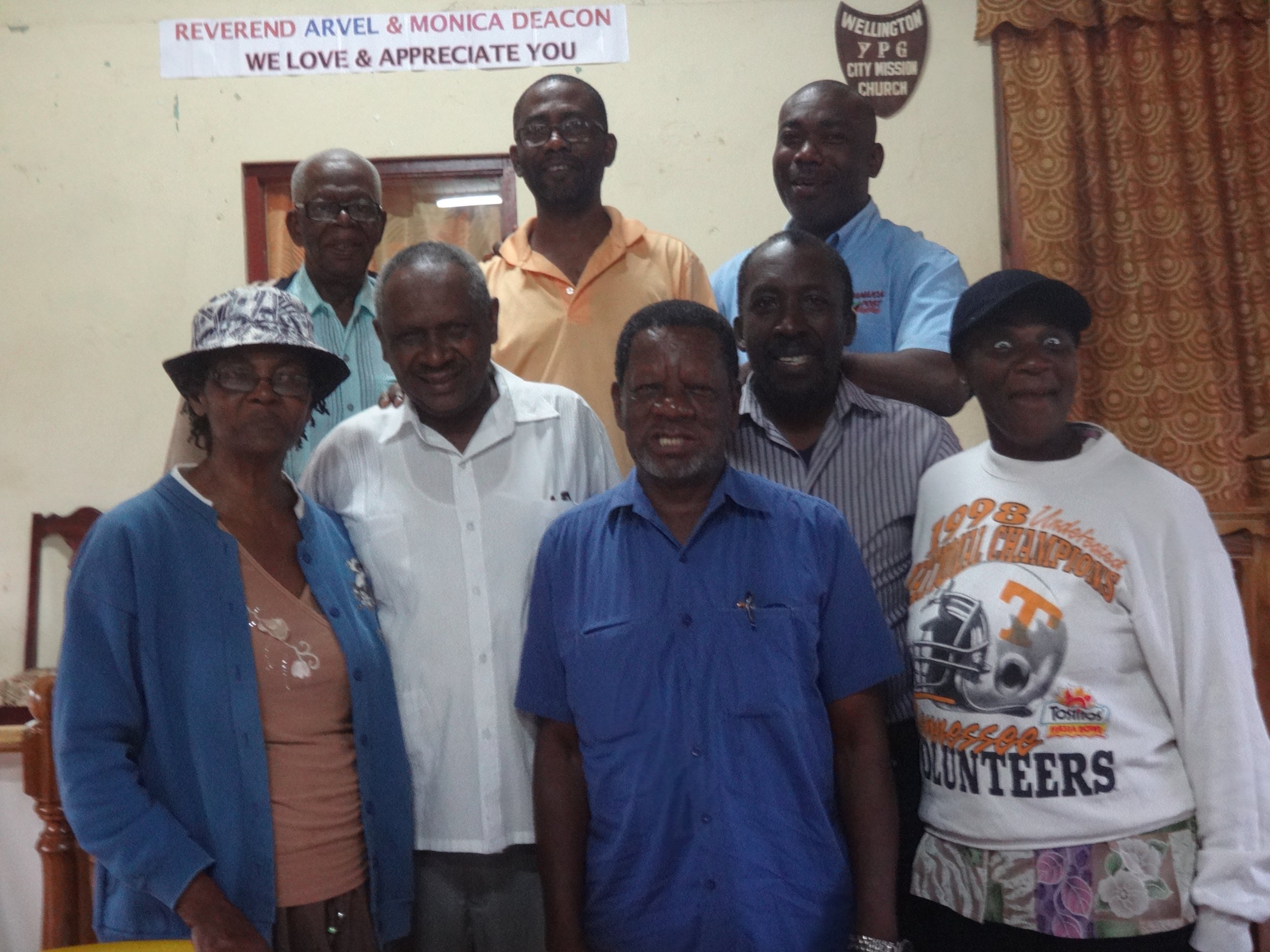 With community leaders - Rose Hill, Jamaica