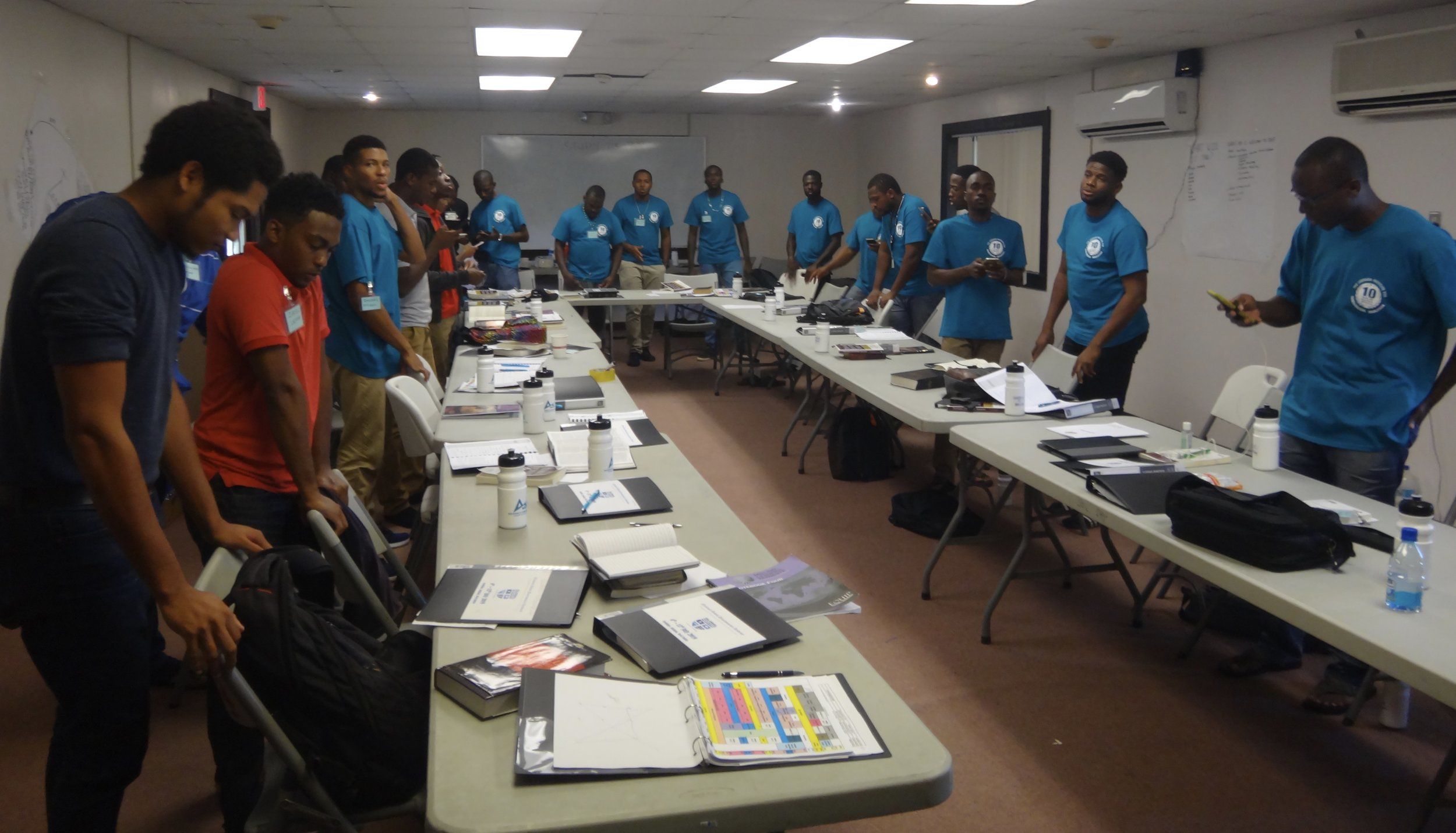 Twenty six young leaders from around the Eastern Caribbean at a leadership workshop