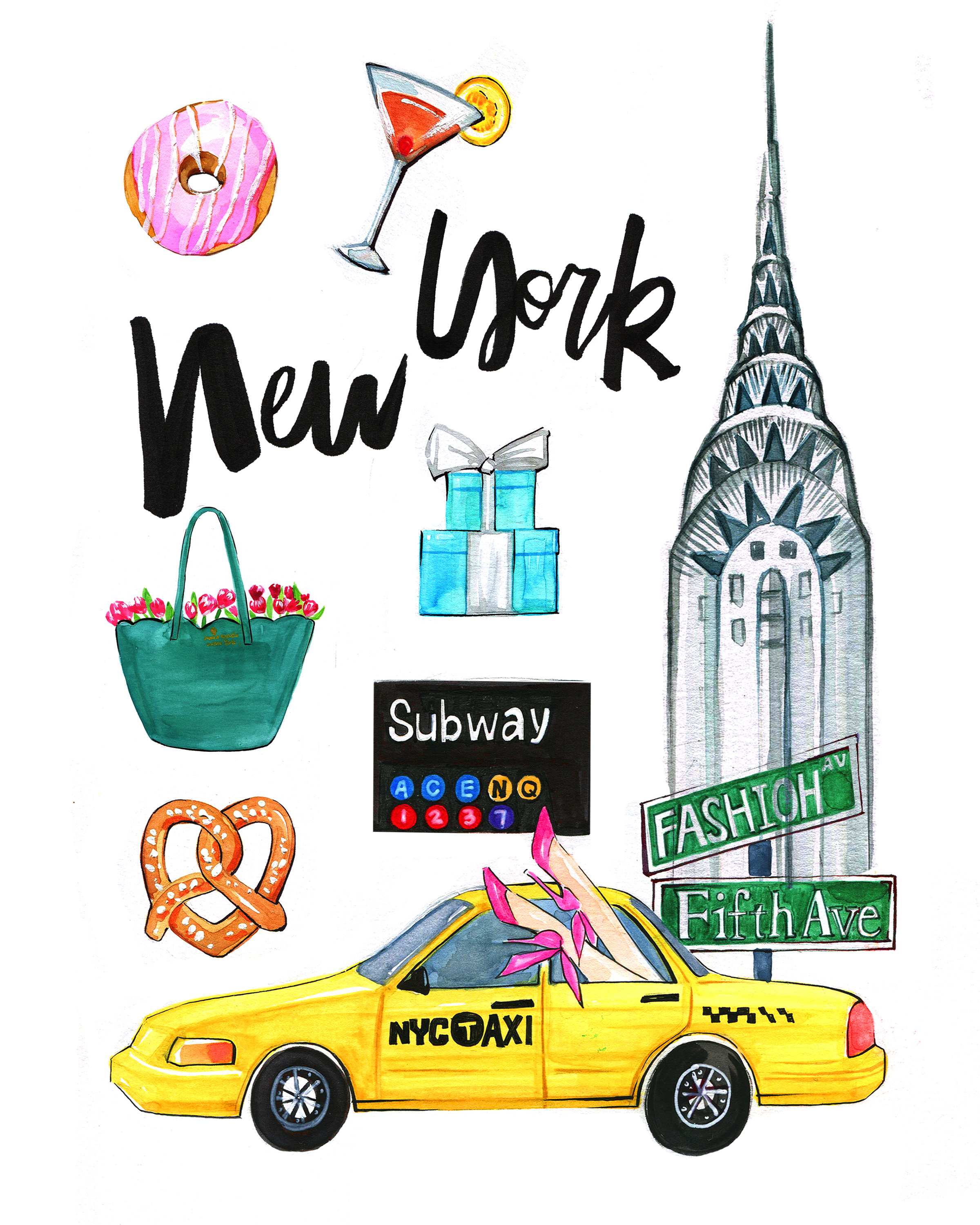 New York Illustration by Artist Rongrong DeVoe