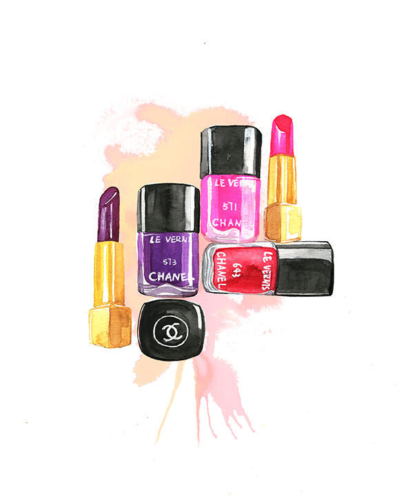 Chanel beauty illustration by Rongrong DeVoe