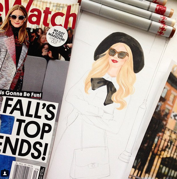 Finding inspirations from fashion magazines like People Style Watch