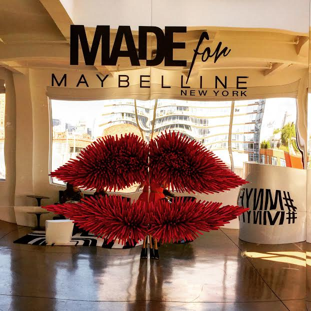Houston fashion illustrator Rongrong DeVoe at Maybelline lounge during NYFW ss16