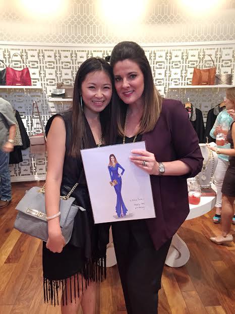 Houston fashion illustrator Rongrong DeVoe with Elaine Turner.jpg