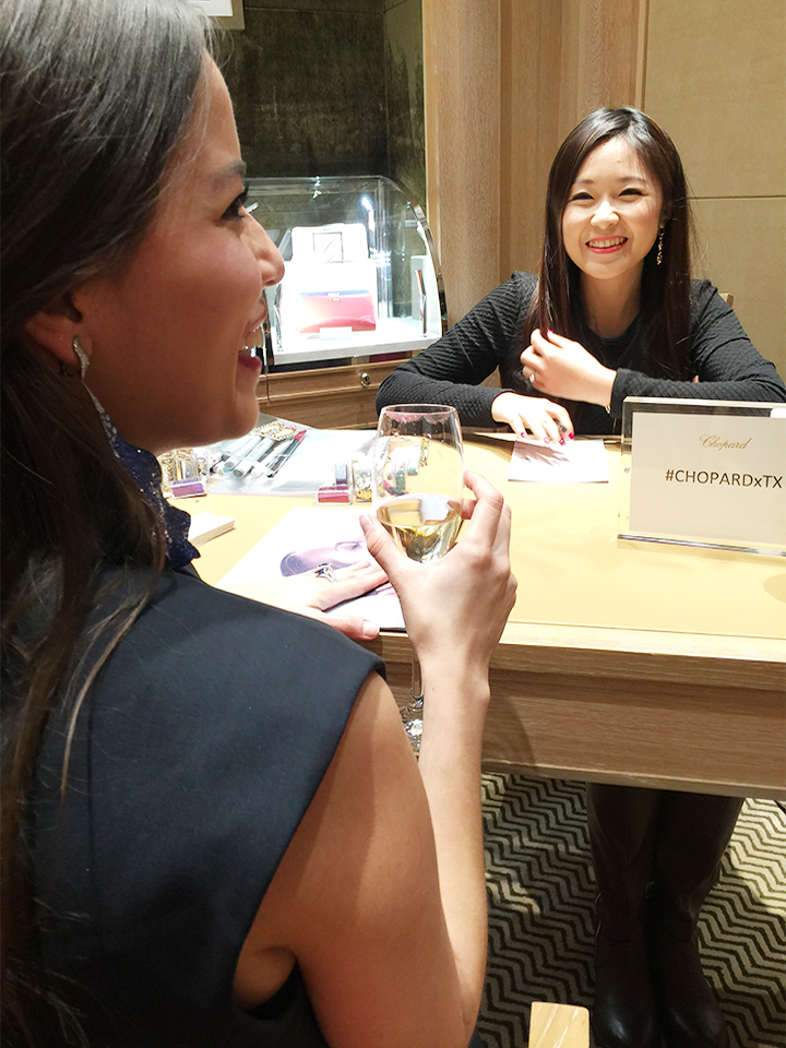 Houston fashion illustrator Rongrong DeVoe is at Chopard event