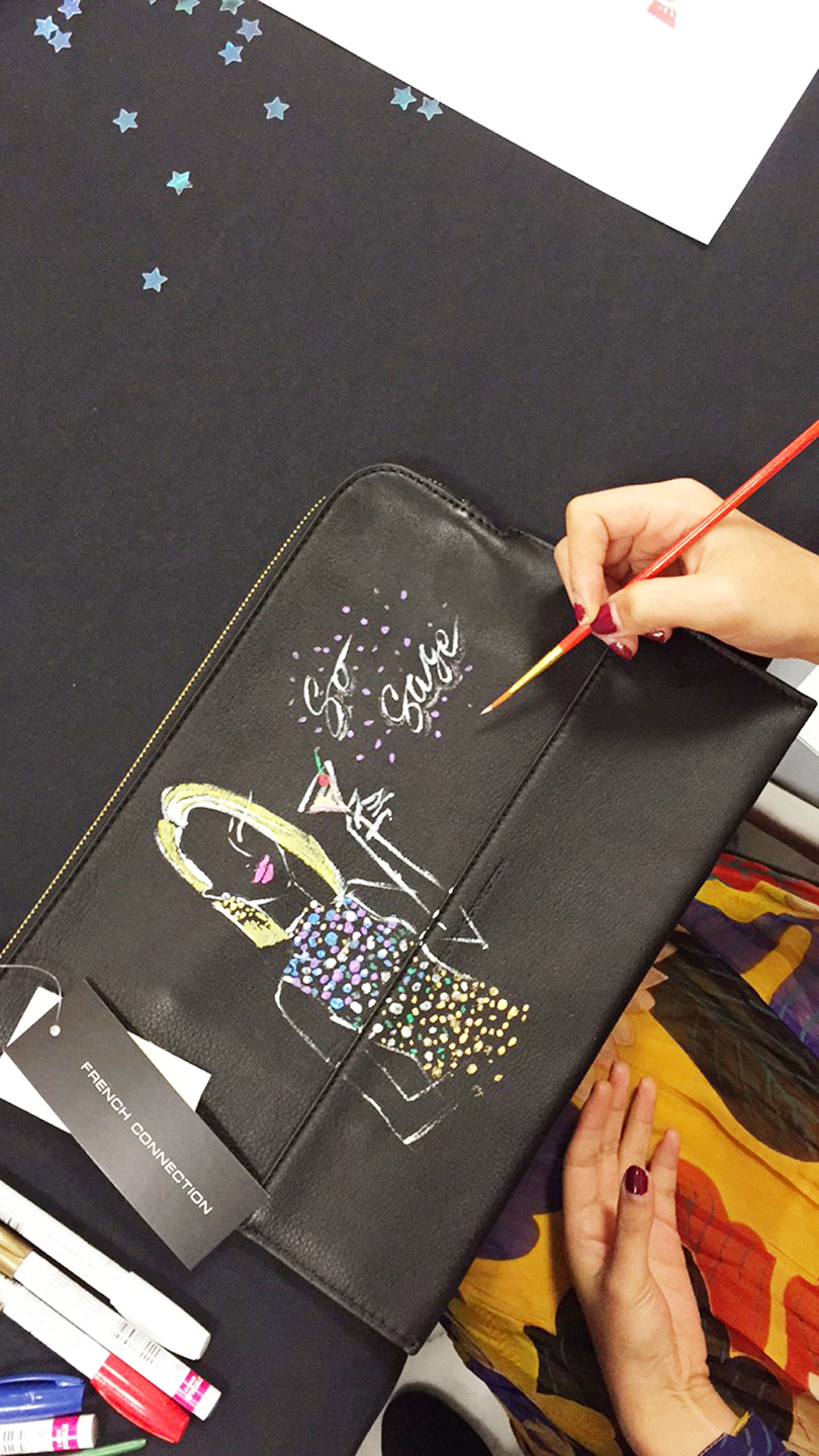 Live-sketch-artist-Rongrong-DeVoe-collaboration-with-French-Connection-at-Dillard's-Houston-2