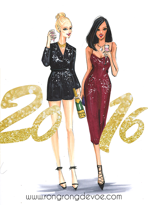 Happy New Year fashion Illustration! Hope you have a wonderful new year!
