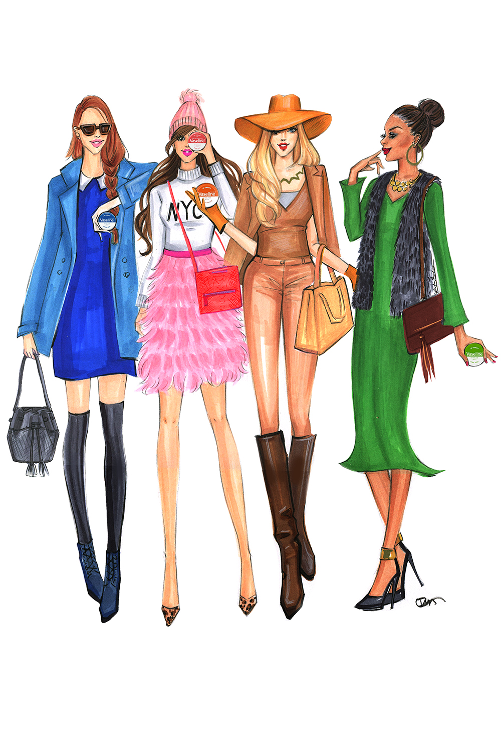 Fashion-Illustration-for-Vasletine and Gigi New York-by-Fashion-Illustrator-Rongrong-DeVoe
