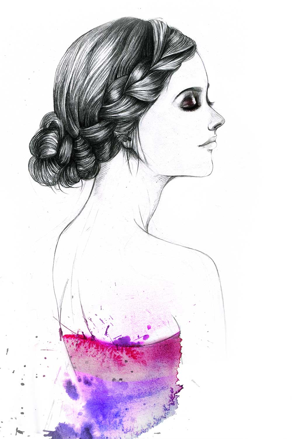 Fashion-Illustration-for-Gino-hair-salon-by-Fashion-Illustrator-Rongrong-DeVoe-2