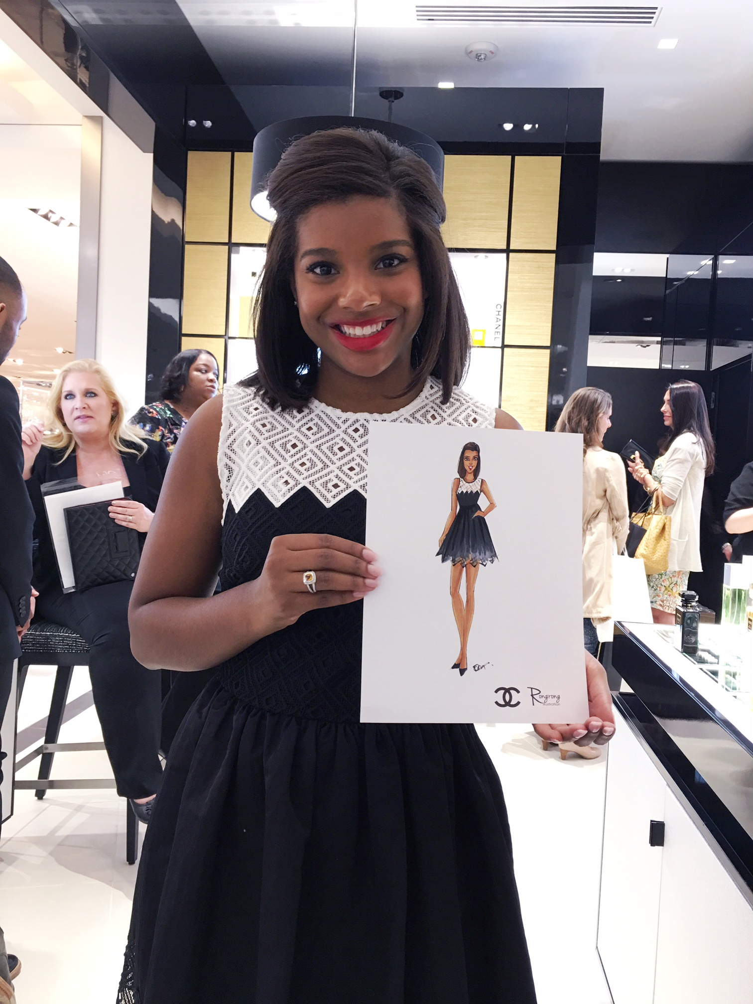 Love her smile! Chanel lipstick is a must have!