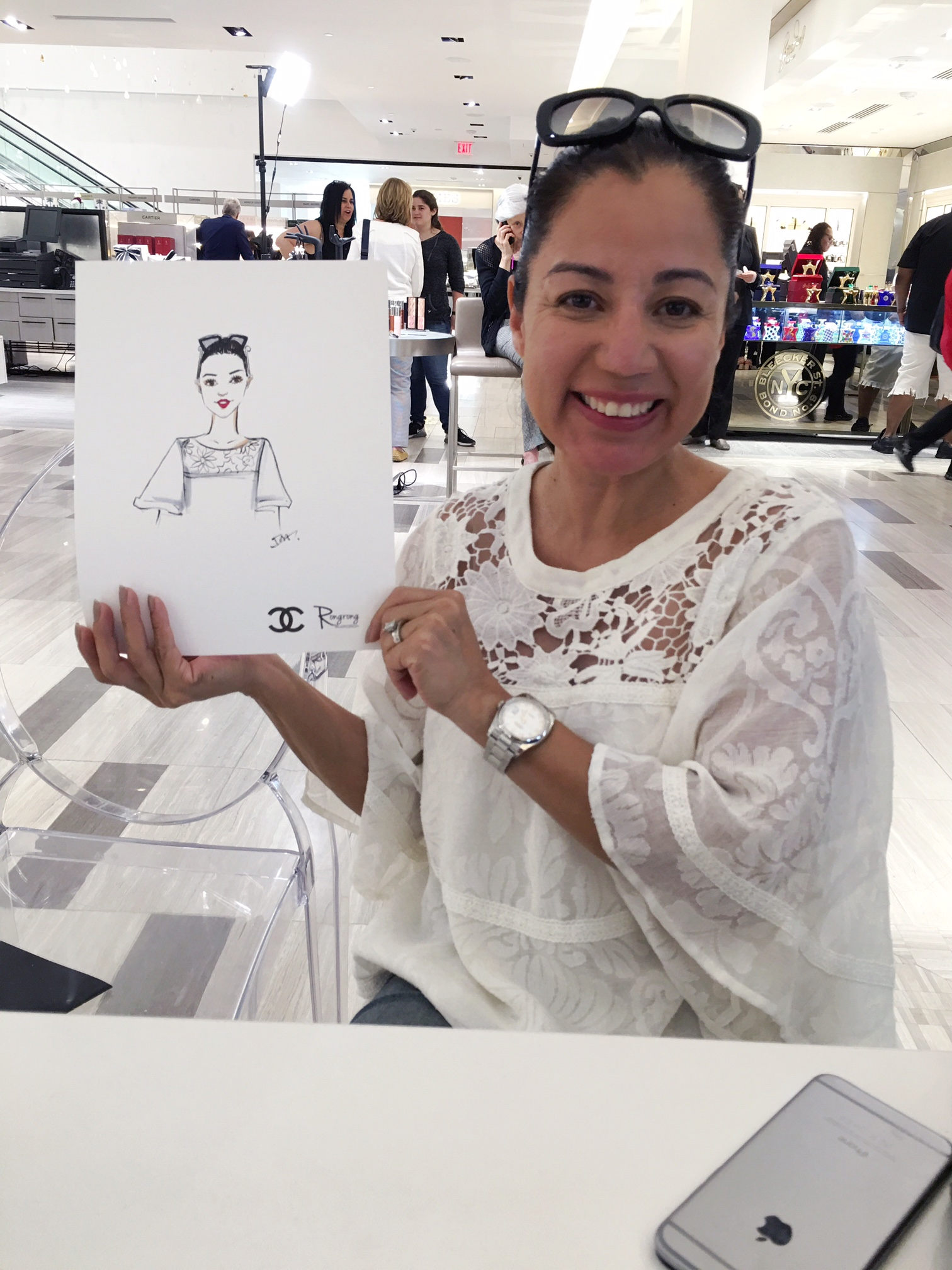 She is a huge Chanel fan! We agreed that when in doubt, choose Chanel!