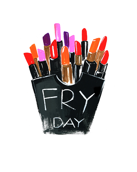 Lipstick fry day illustration by Rongrong DeVoe.JPG
