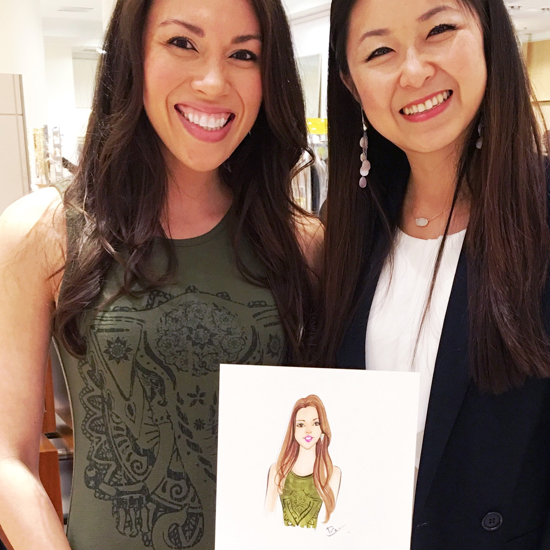 Dallas live sketch event for David Yurman by Fashion illustrator Rongrong DeVoe