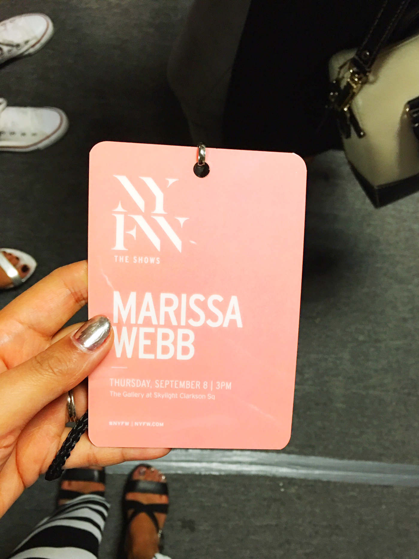 Backstage badge is so pretty!