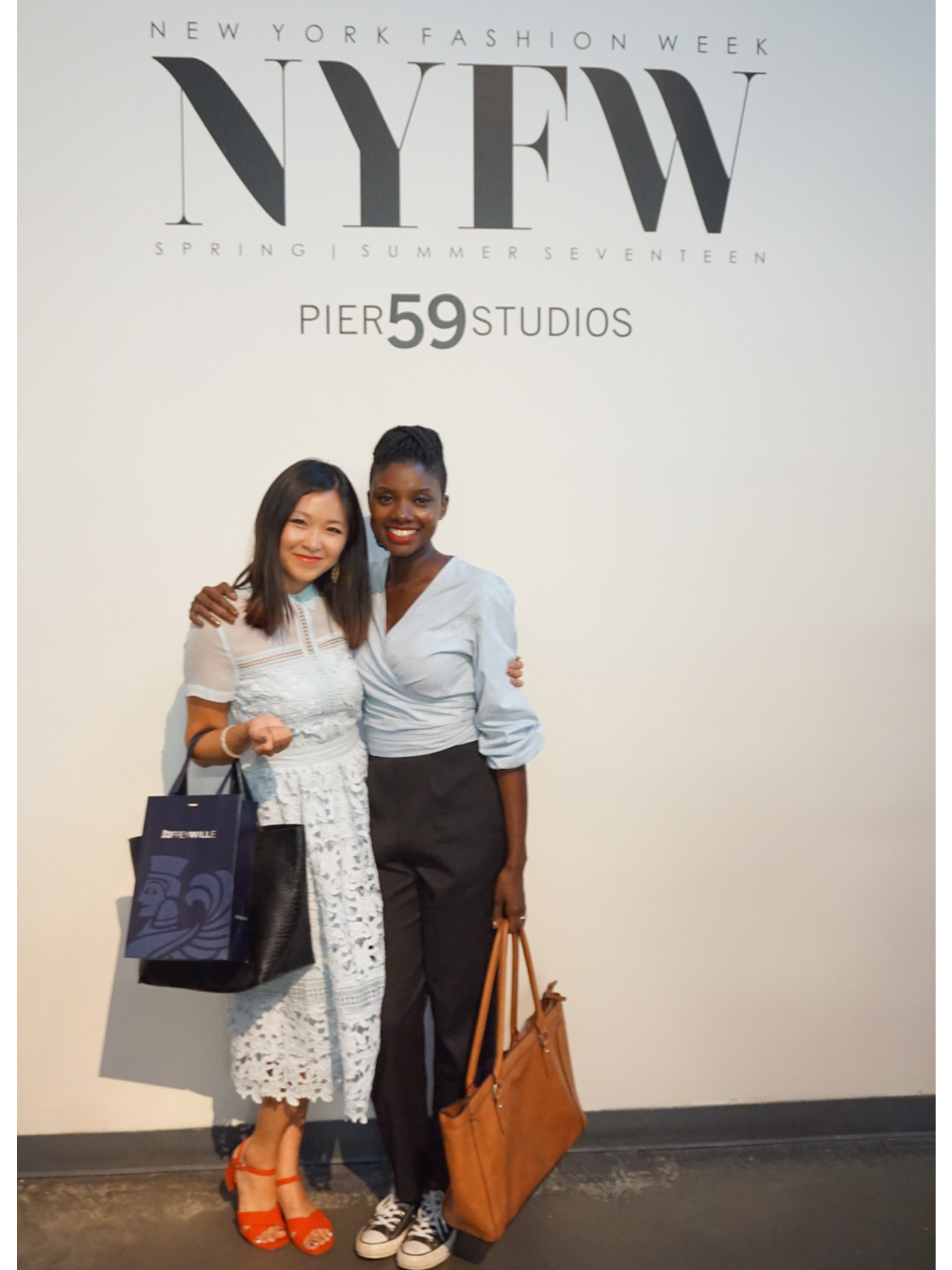 Brandy and I at China Fashion Collective show.