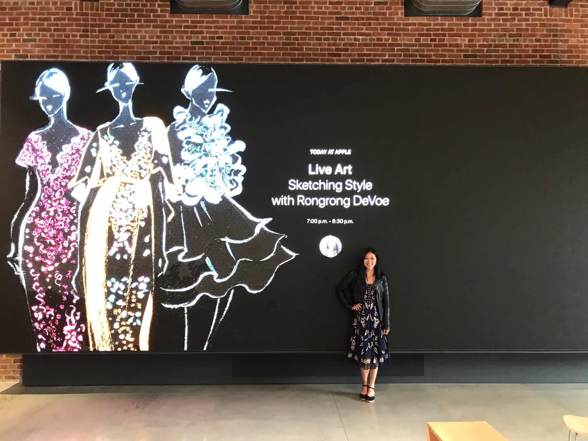 Fashion Illustrator Talk at Today At Apple